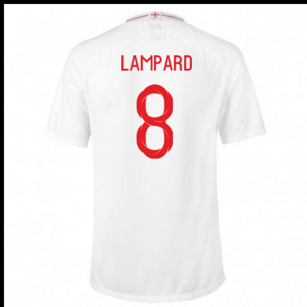2018-2019 England Home Nike Football Shirt (Lampard 8) - Kids ... 36210ce4a