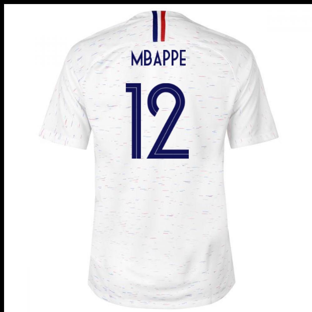 51bea381c65 2018-2019 France Away Nike Football Shirt (Mbappe 12) - Kids  [893988-100-109481] - $88.94 Teamzo.com