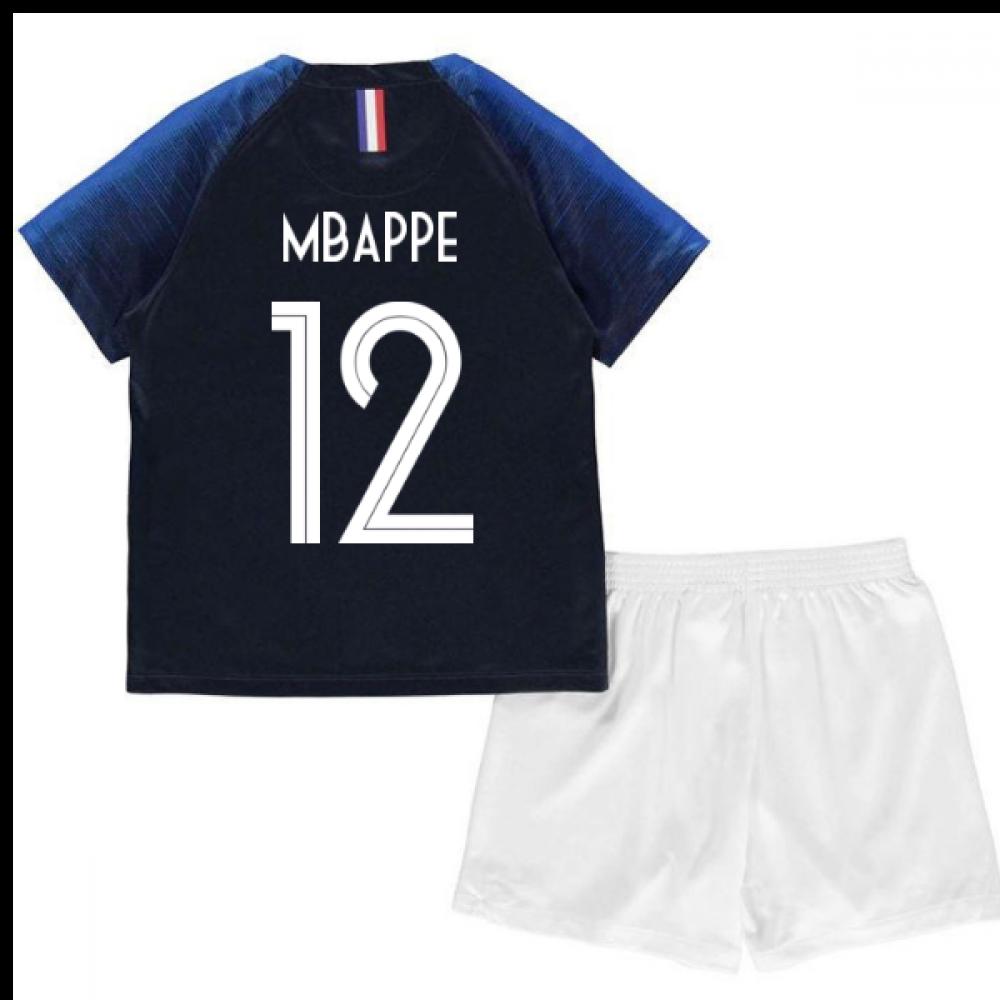 d112ab1e9b6 2018-2019 France Home Nike Mini Kit (Mbappe 12)  894043-451-109573 ...