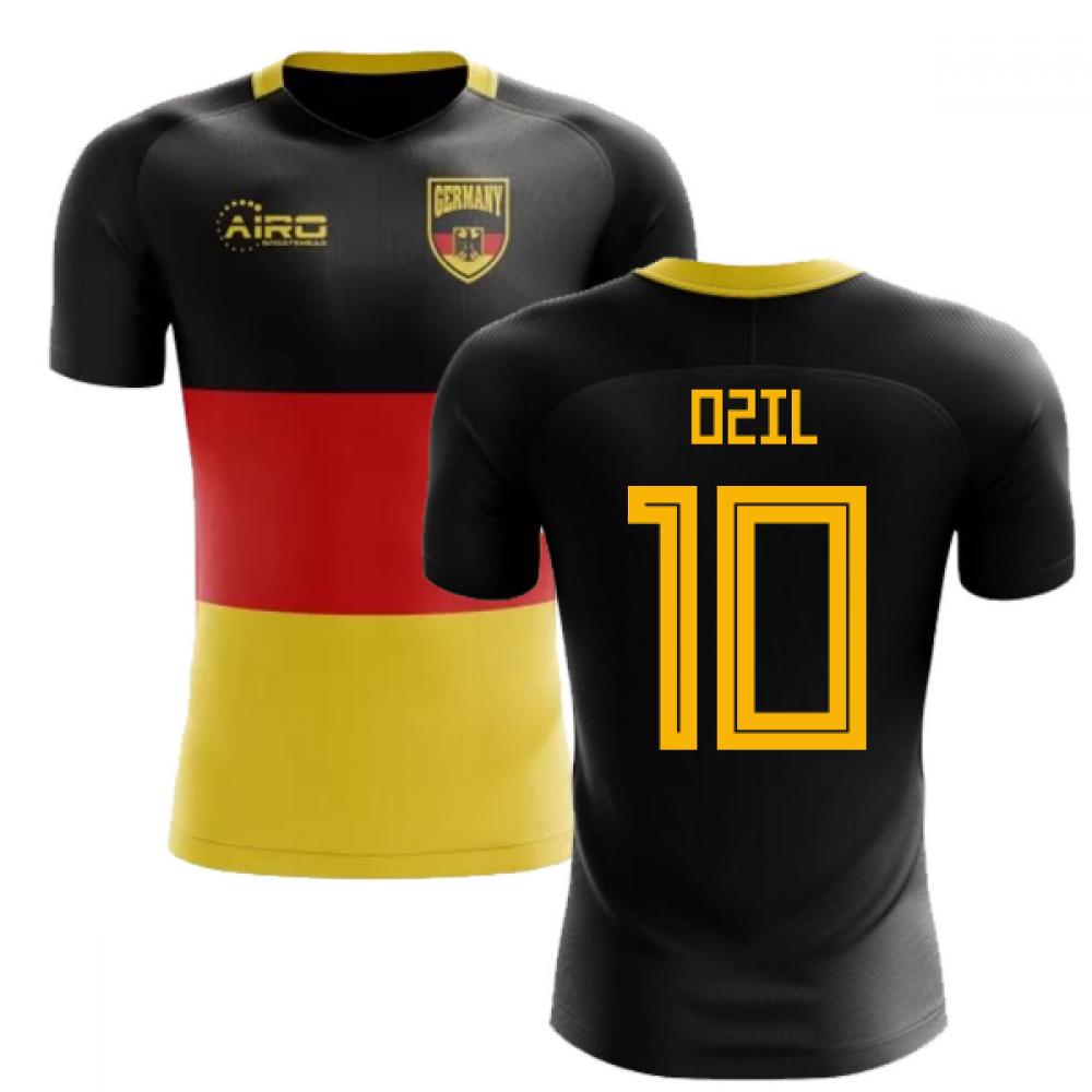 the best attitude d35c0 bdb16 2018-2019 Germany Flag Concept Football Shirt (Ozil 10)