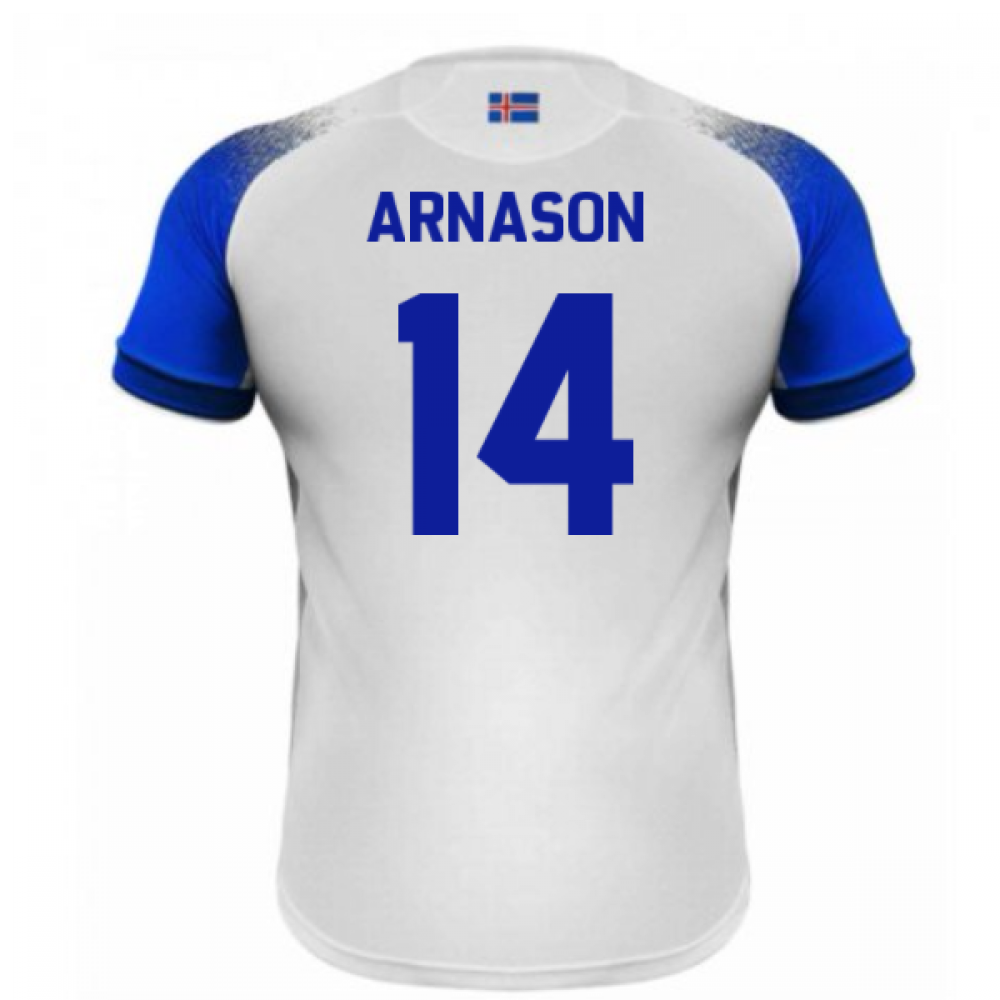 cc8e8a222 2018-2019 Iceland Away Errea Football Shirt (Arnason 14 ...