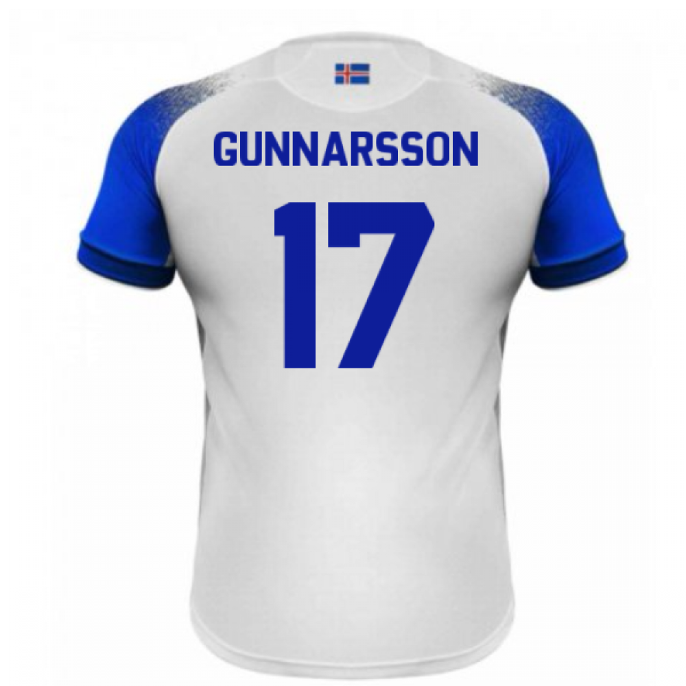 1320b49f2 2018-2019 Iceland Away Errea Football Shirt (Gunnarsson 17 ...