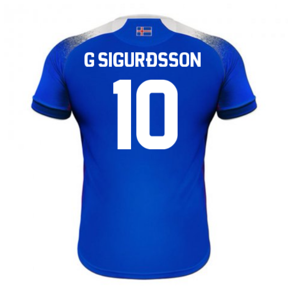 1edb0efb4 2018-2019 Iceland Home Errea Football Shirt (G Sigurdsson 10 ...