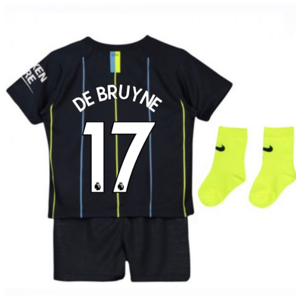 2019 City: 2018-2019 Man City Away Nike Baby Kit (De Bruyne 17