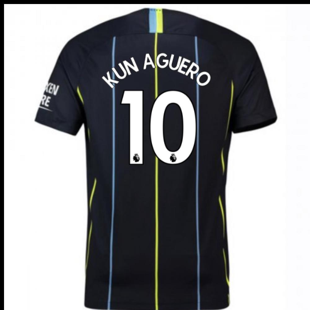 20182019 man city away nike football shirt kun aguero 10