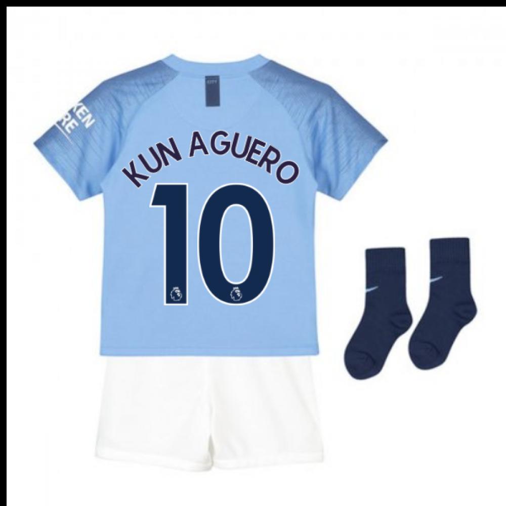 super popular 9d746 c3050 2018-2019 Man City Home Nike Baby Kit (Kun Aguero 10)