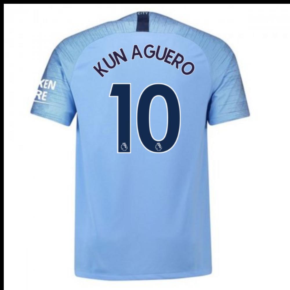 20182019 man city home nike football shirt kun aguero 10