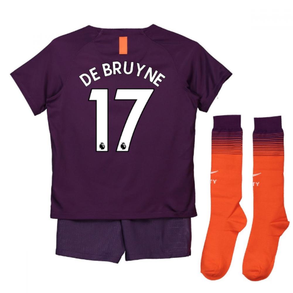 innovative design 5f58c 31129 2018-2019 Man City Third Nike Little Boys Mini Kit (De Bruyne 17)