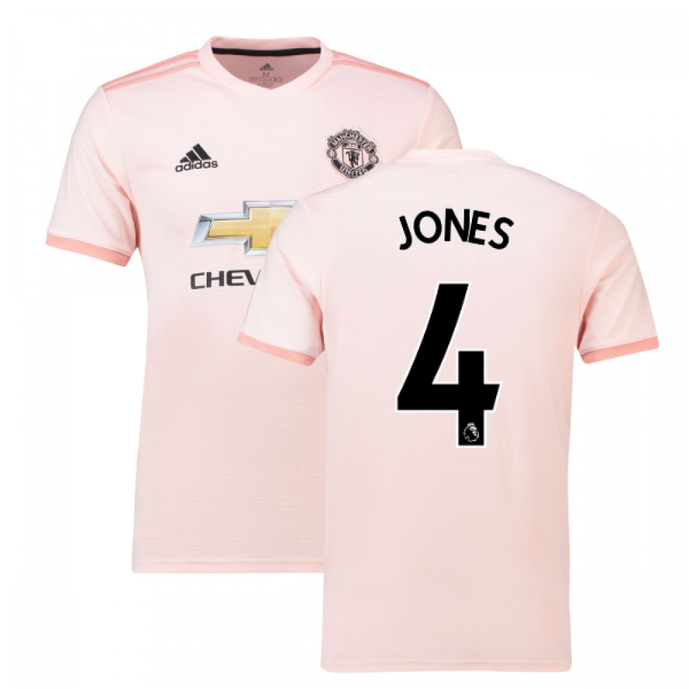 c27f38b8cfc 2018-2019 Man Utd Adidas Away Football Shirt (Jones 4)  CG0038 ...