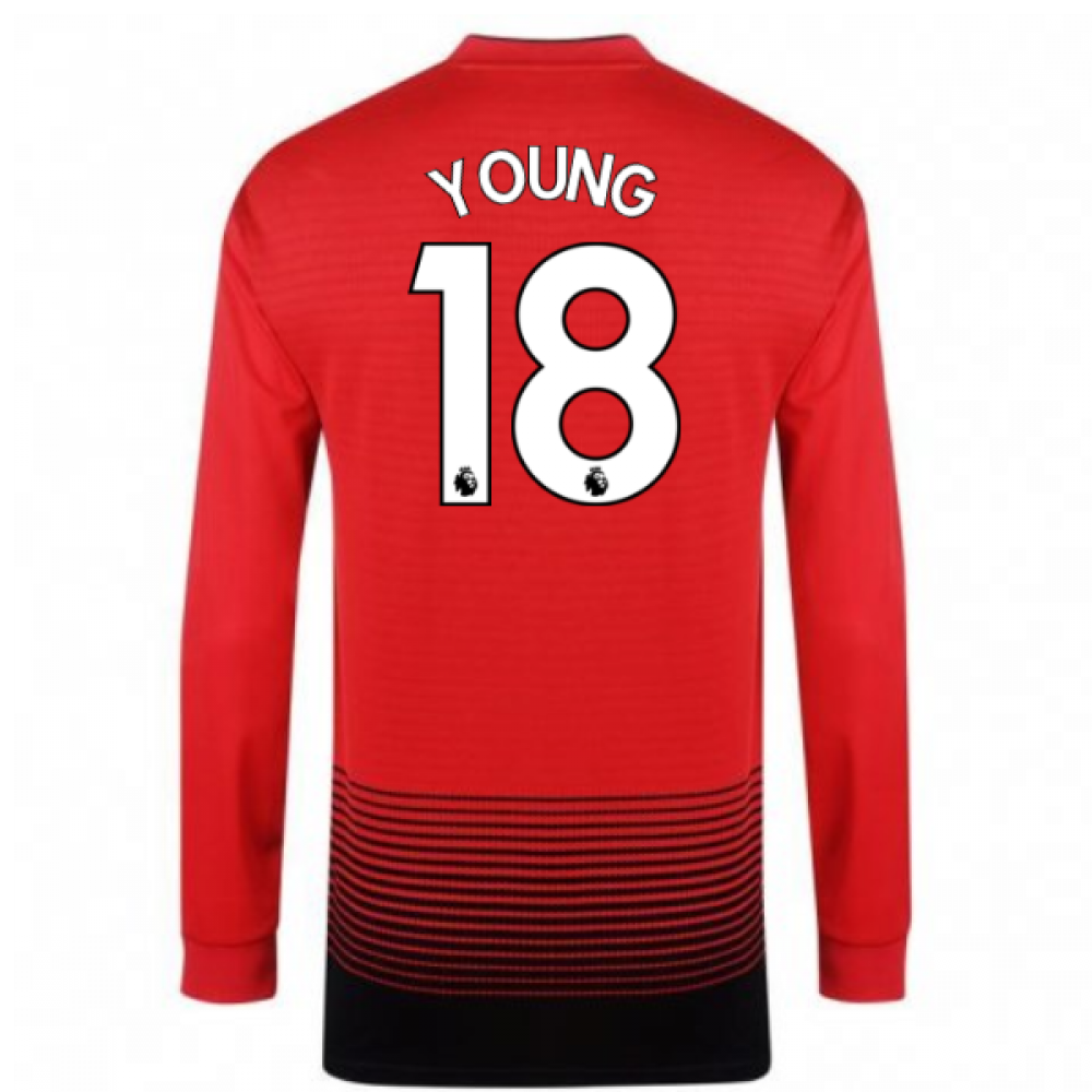 b101a5f3b27 2018-2019 Man Utd Adidas Home Long Sleeve Shirt (Young 18)  CG0047 ...
