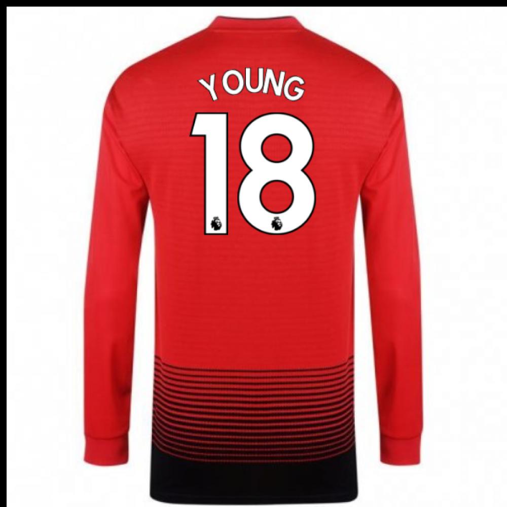 2018-2019 Man Utd Adidas Home Long Sleeve Shirt (Young 18)  CG0047 ... 05f84809f