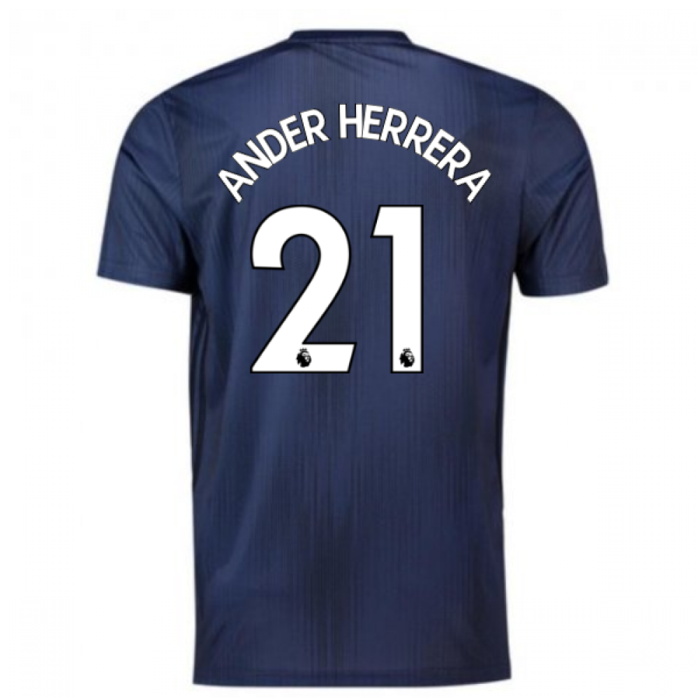 huge discount b3c7f 22683 2018-2019 Man Utd Adidas Third Football Shirt (Ander Herrera 21)