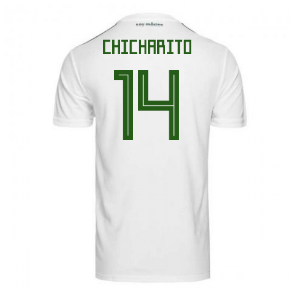 a040f267e 2018-2019 Mexico Away Adidas Football Shirt (Chicharito 14)  BQ4689 ...
