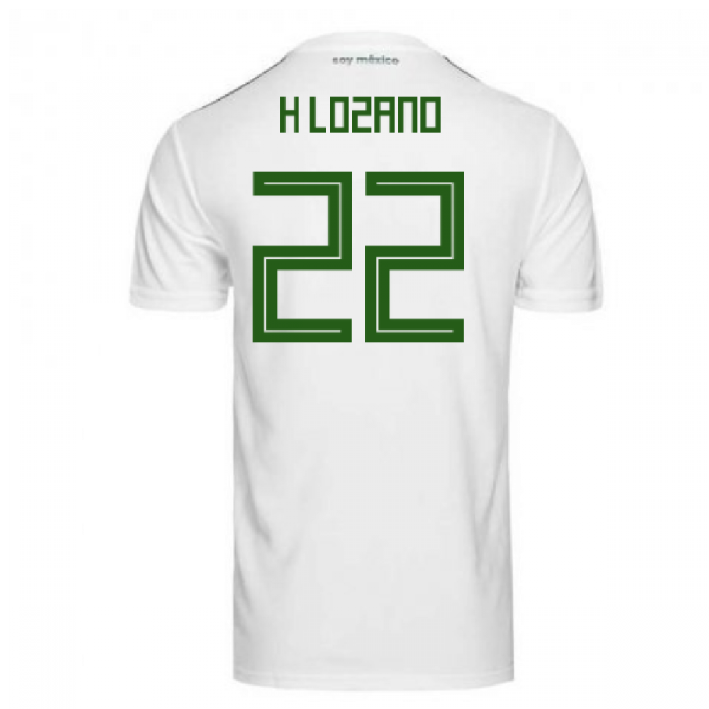 5e1ee0530 2018-2019 Mexico Away Adidas Football Shirt (H Lozano 22)  BQ4689 ...