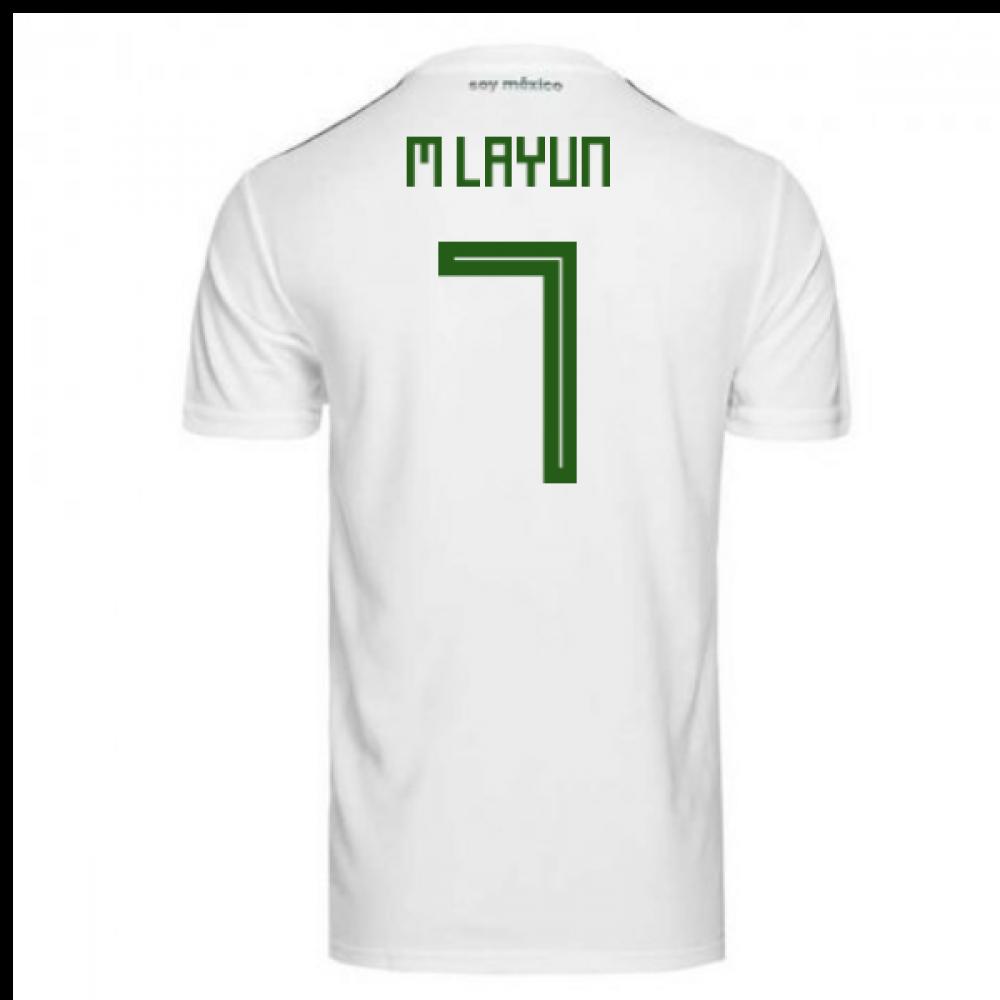 335e019e282 2018-2019 Mexico Away Adidas Football Shirt (M Layun 7) - Kids ...