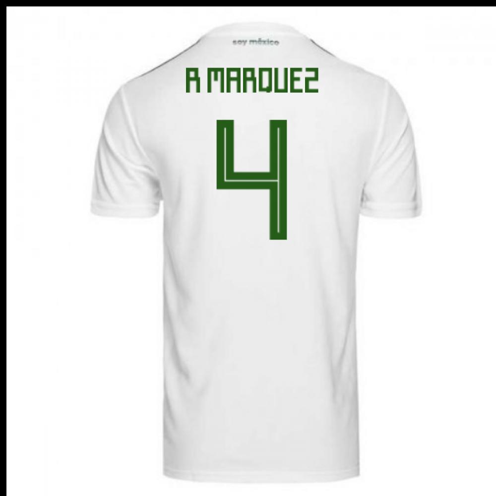 40b8a3bb155 2018-2019 Mexico Away Adidas Football Shirt (R Marquez 4)  BQ4689 ...