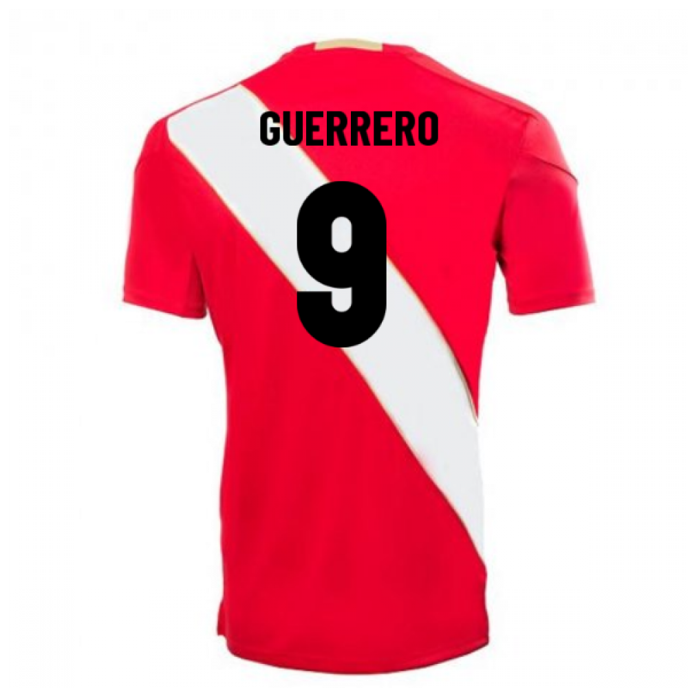 a58a69436b4 2018-2019 Peru Away Umbro Football Shirt (Guerrero 9) [90177U-KIT ...