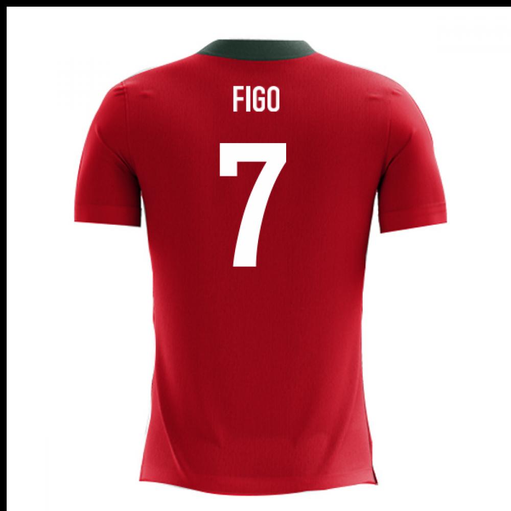 9fe6324b9 2018-2019 Portugal Airo Concept Home Shirt (Figo 7)  PORTUGALH ...