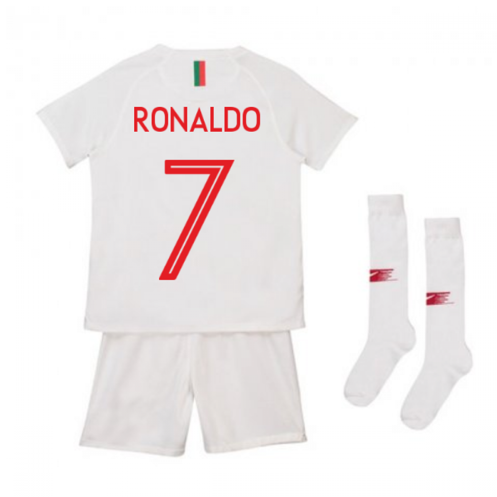 finest selection 43848 ef906 2018-2019 Portugal Away Nike Mini Kit (Ronaldo 7)