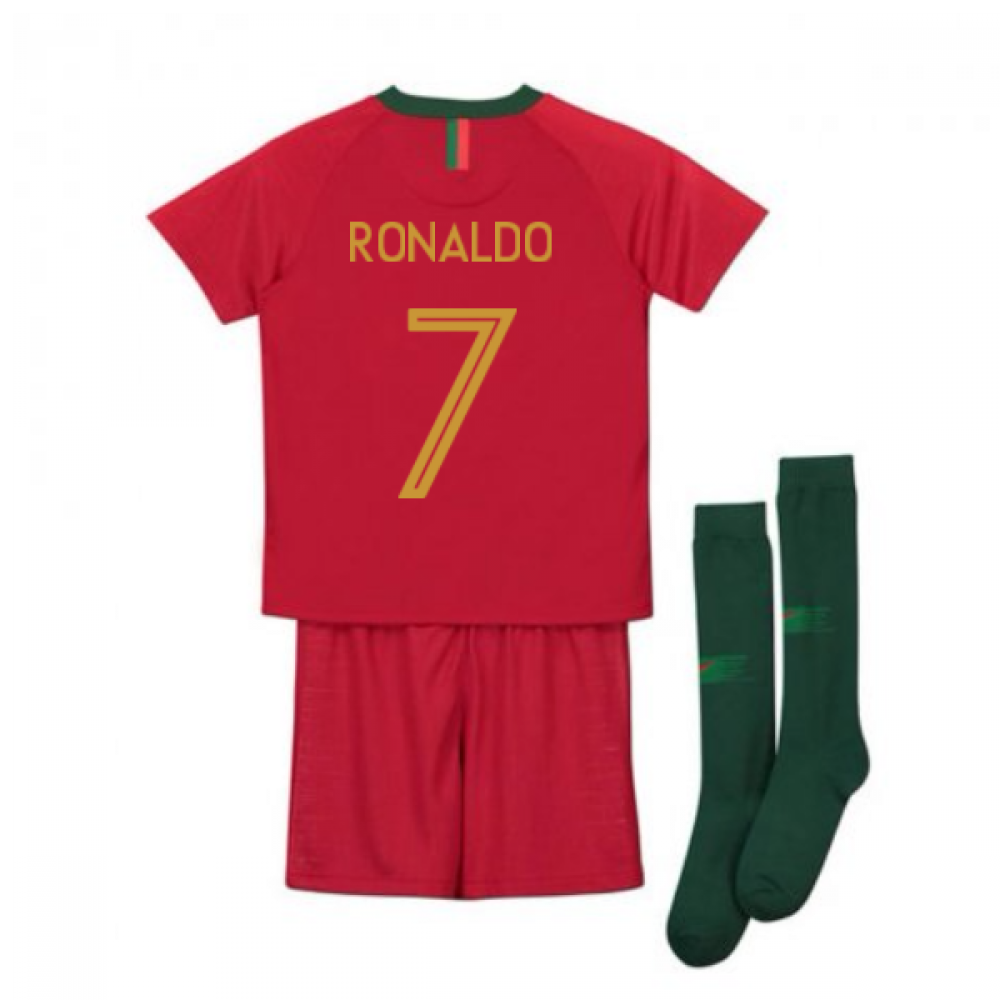 new product a1ffe 96650 2018-2019 Portugal Home Nike Mini Kit (Ronaldo 7)