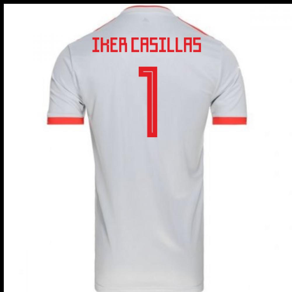 2018-2019 Spain Away Adidas Football Shirt (Iker Casillas 1)