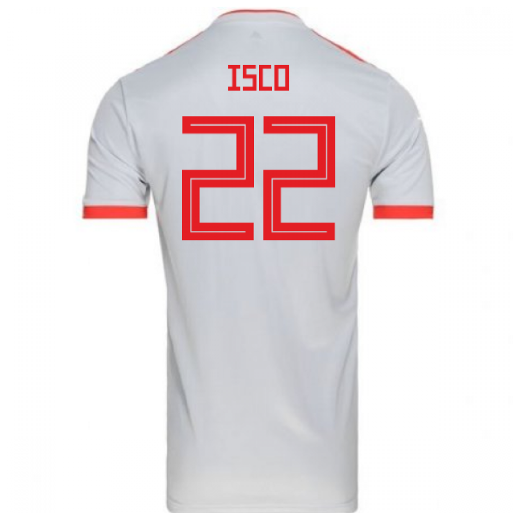 db7b98de130 2018-2019 Spain Away Adidas Football Shirt (Isco 22) - Kids [BR2694-109680]  - $76.36 Teamzo.com