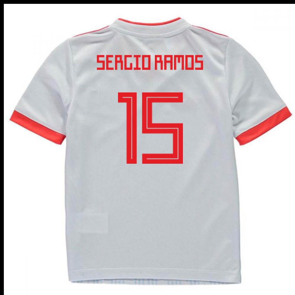 pretty nice 315fb 28911 2018-2019 Spain Away Adidas Mini Kit (Sergio Ramos 15)