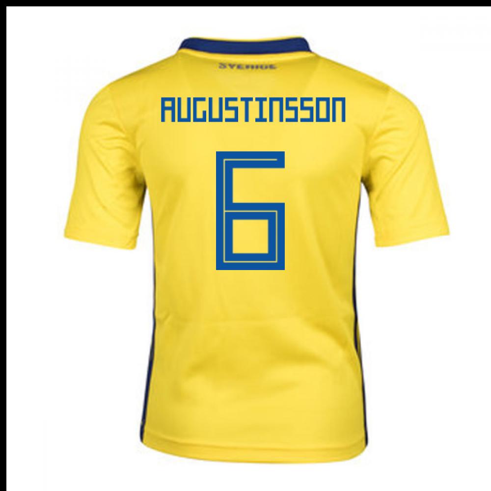 fc3e68b4fb9 2018-2019 Sweden Home Adidas Mini Kit (Augustinsson 6) [BR3829 ...
