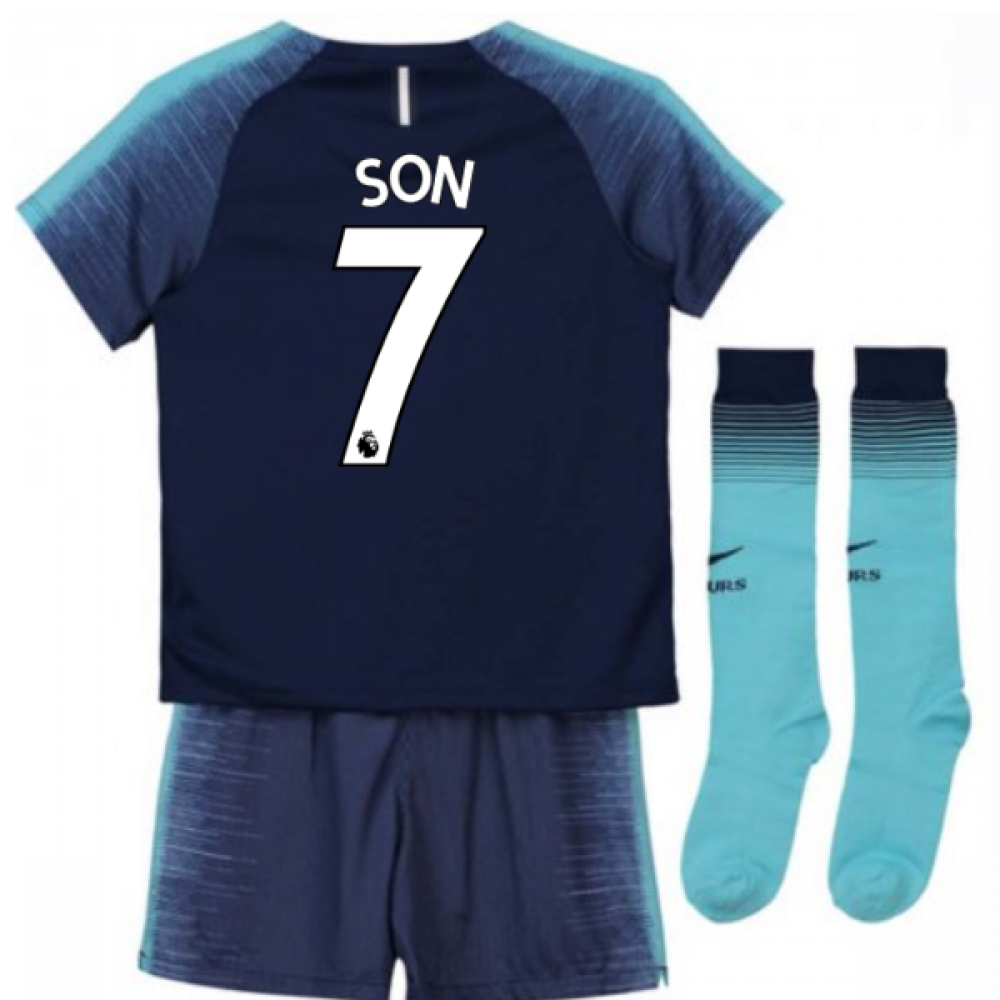 size 40 0bac8 402ff 2018-2019 Tottenham Away Nike Little Boys Mini Kit (Son 7)