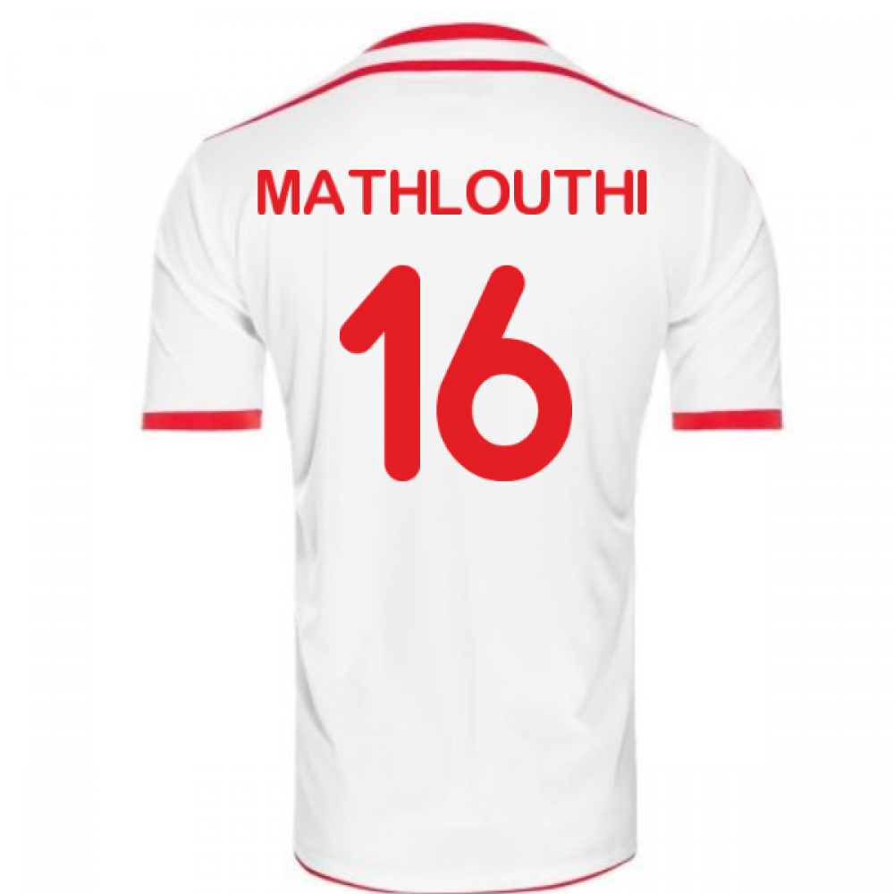 2018-2019 Tunisia Home Uhlsport Football Shirt (Mathlouthi 16 ... 342b9bde6