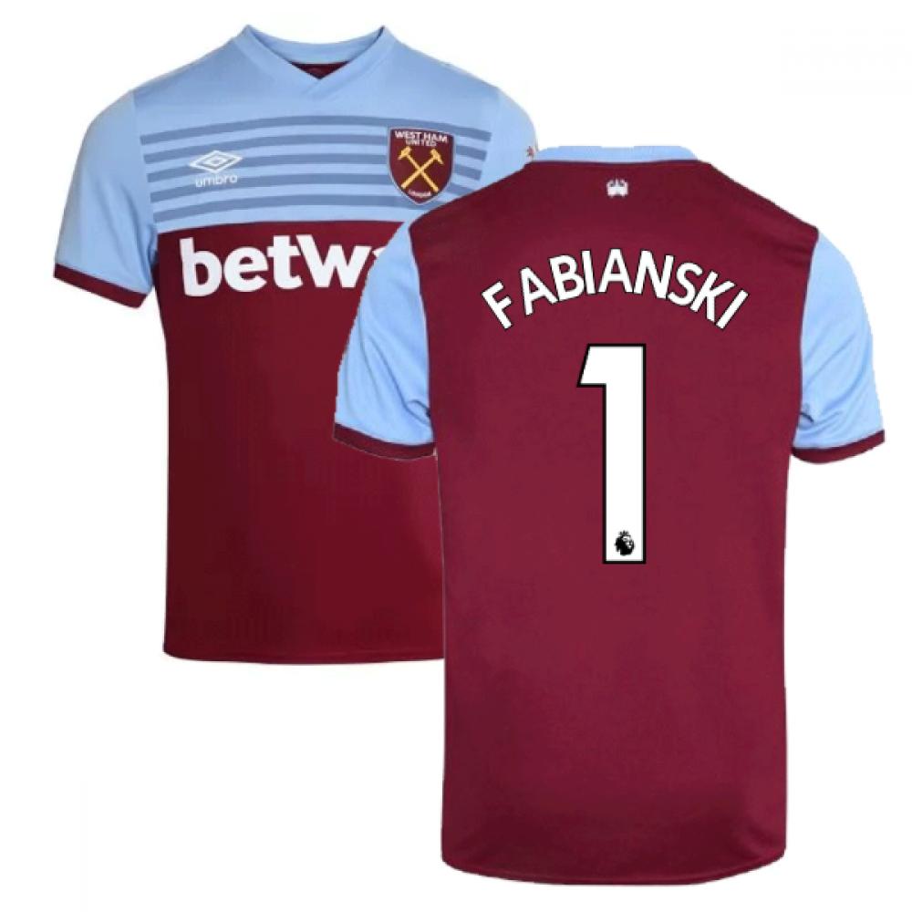 official photos bf93a cae1a 2019-20 West Ham Home Shirt (FABIANSKI 1)