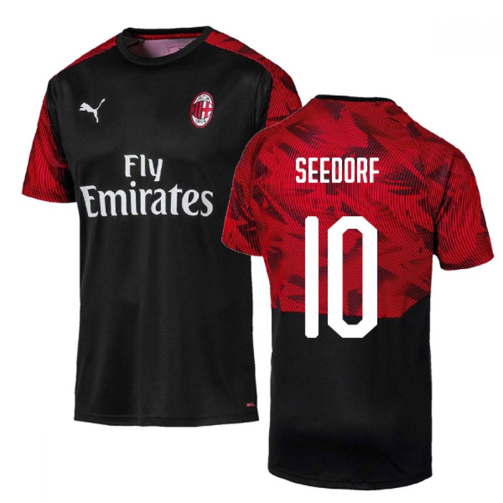 more photos 6e285 75ce9 2019-2020 AC Milan Puma Training Shirt (Black) (SEEDORF 10)