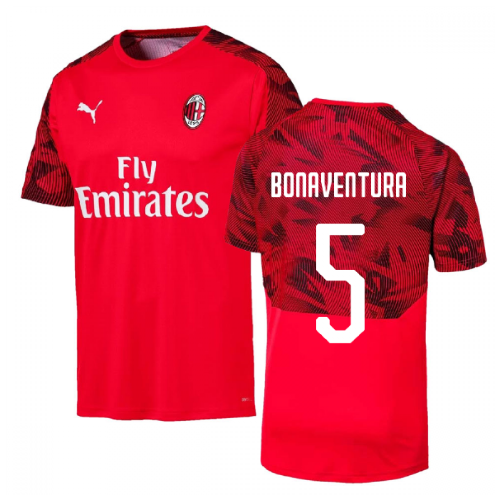 2019-2020 AC Milan Puma Training Shirt (Red) (BONAVENTURA 5)