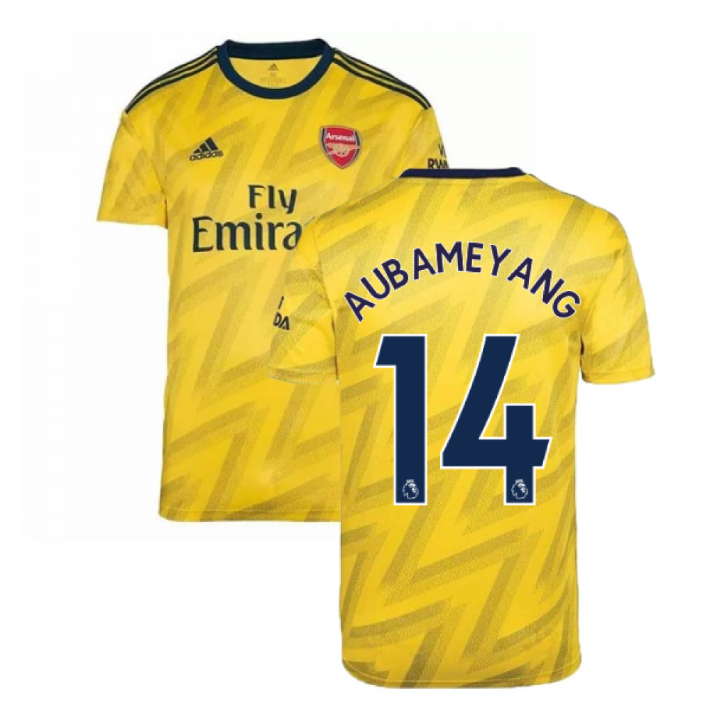 2019 2020 Arsenal Adidas Away Football Shirt (AUBAMEYANG 14)
