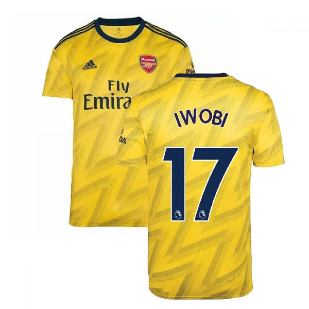2019-2020 Arsenal Adidas Away Football Shirt (IWOBI 17)