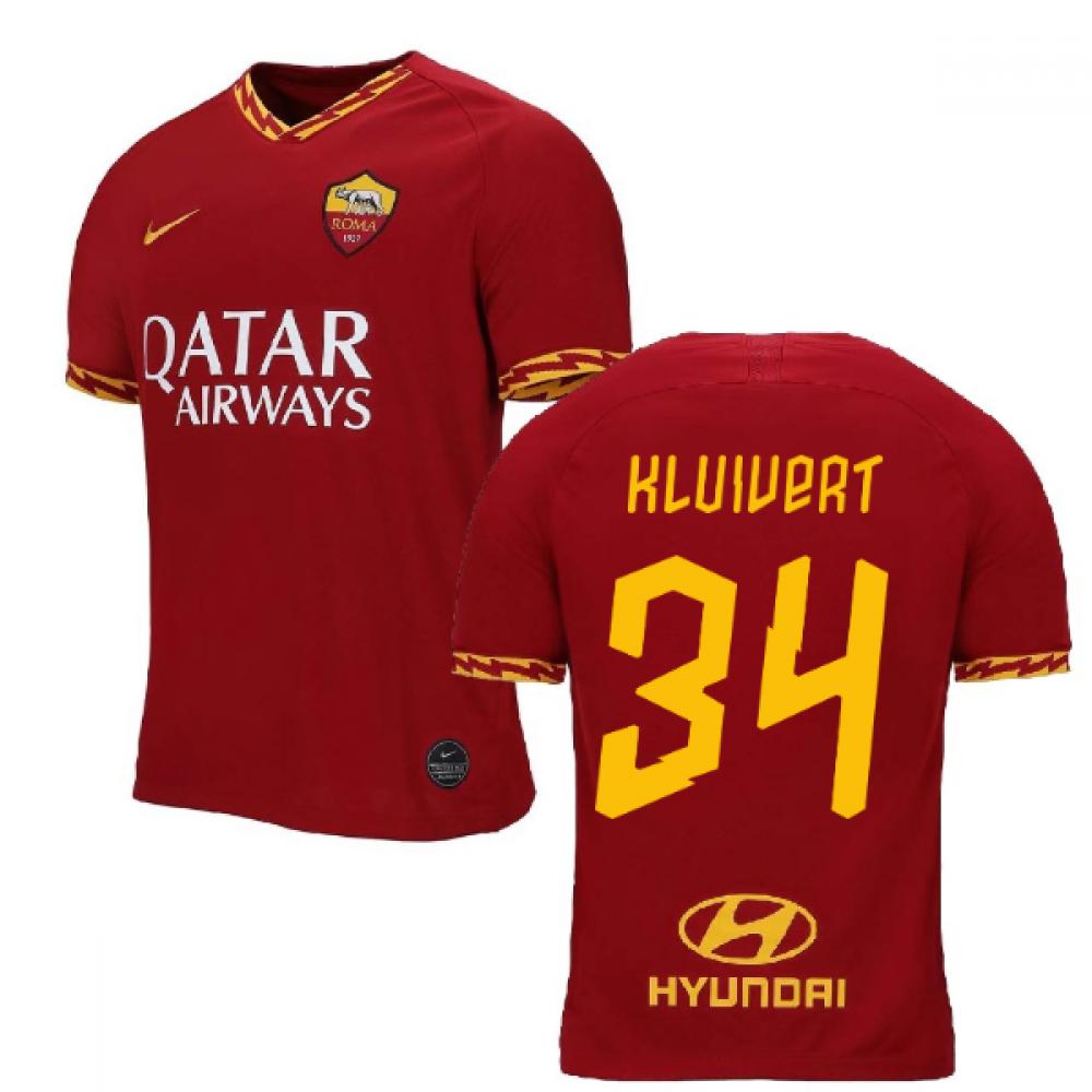 2019-2020 AS Roma Home Nike Football Shirt (KLUIVERT 34)