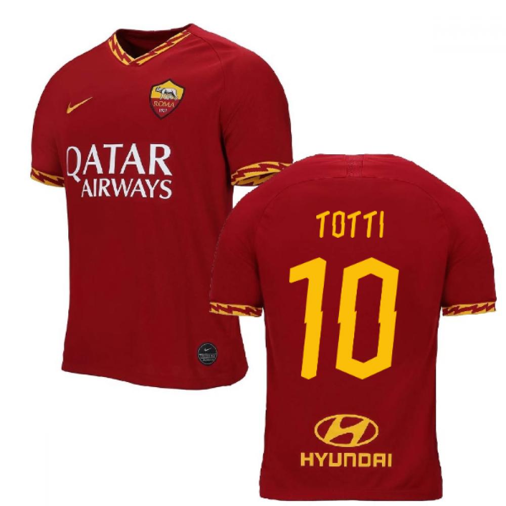 2019-2020 AS Roma Home Nike Football Shirt (TOTTI 10)