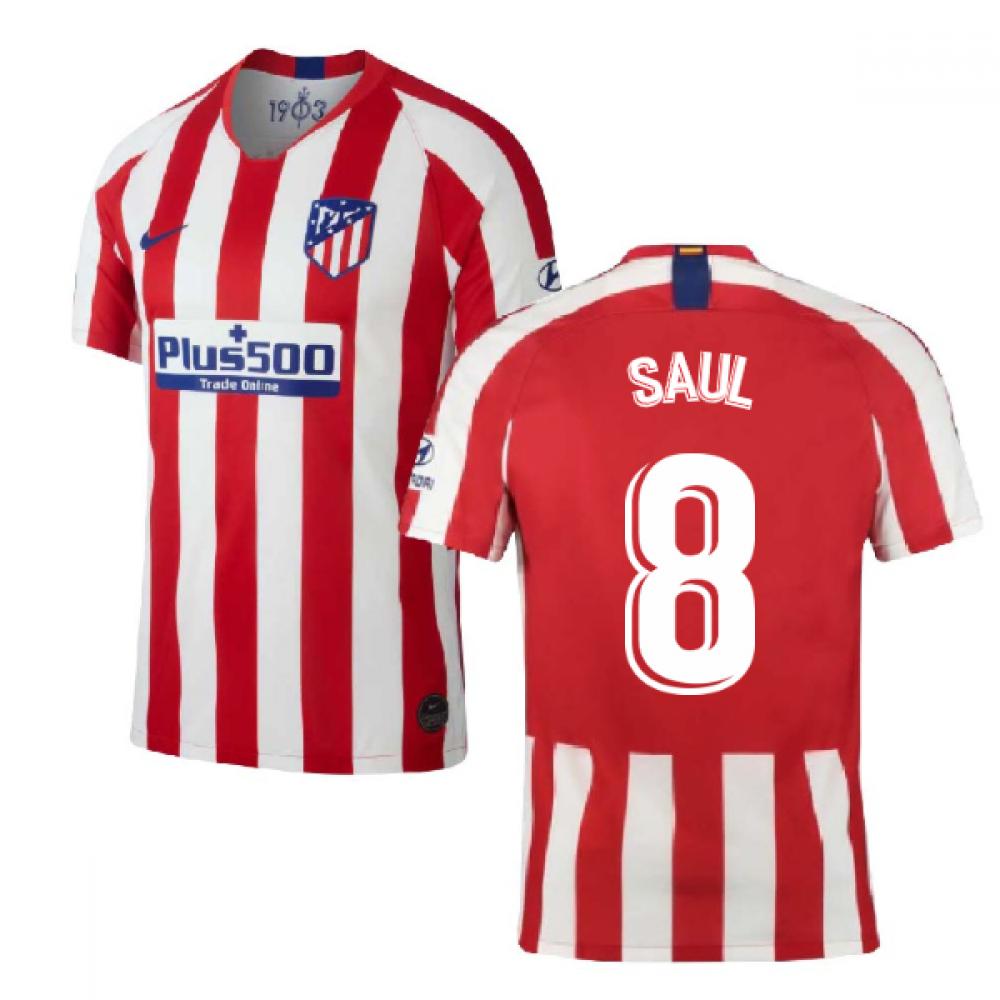 2019-2020 Atletico Madrid Home Nike Football Shirt (SAUL 8)