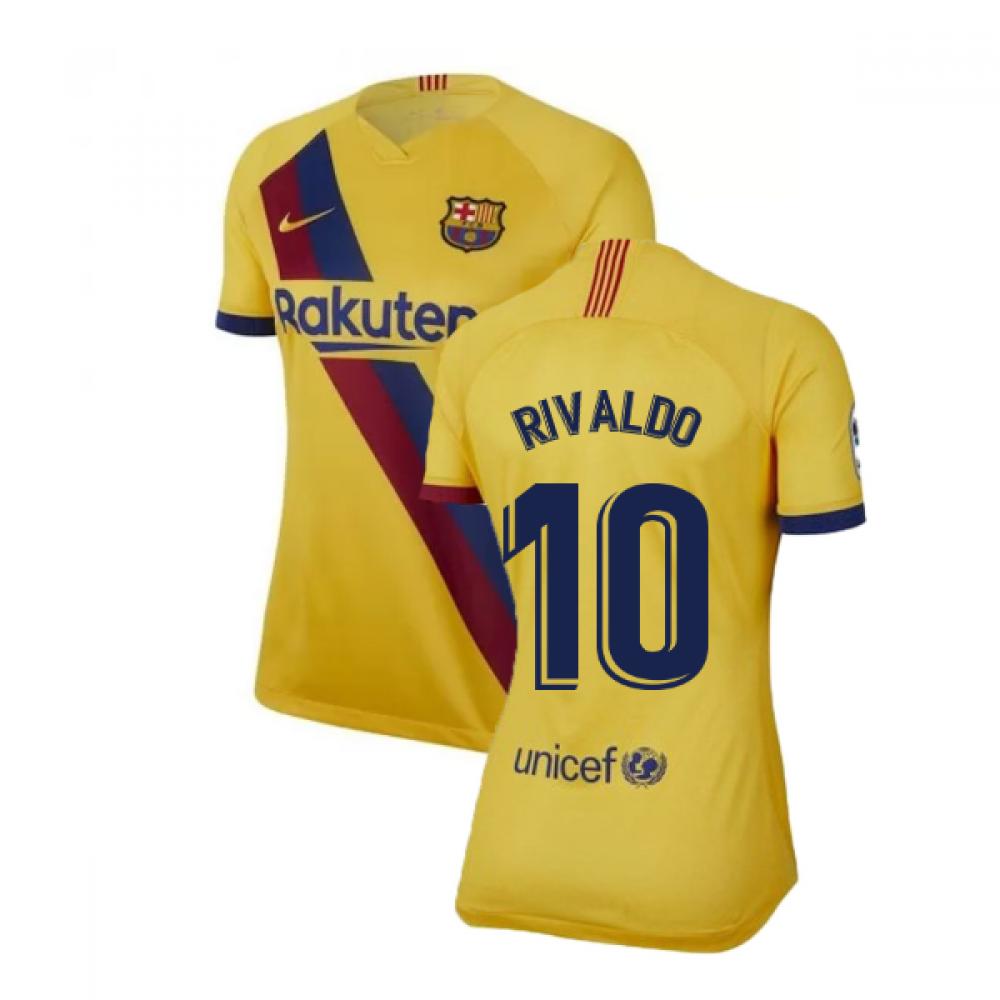 new concept 65465 77fa1 2019-2020 Barcelona Away Nike Ladies Shirt (RIVALDO 10)