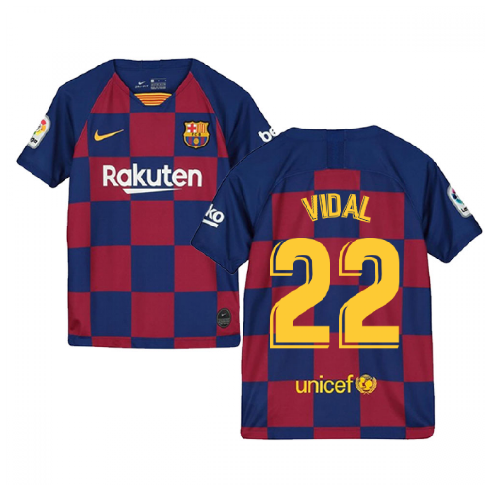 quality design d35d2 5d258 2019-2020 Barcelona Home Nike Shirt (Kids) (VIDAL 22)