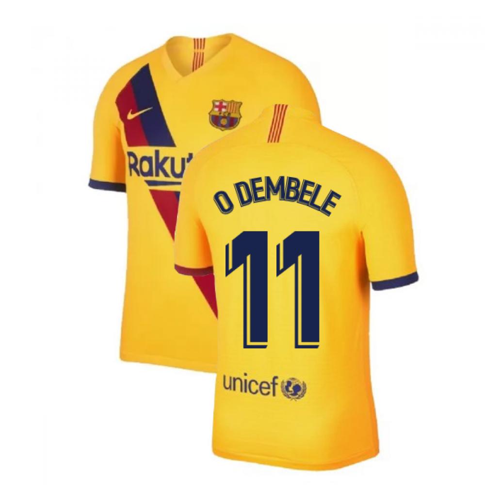 buy popular 23e97 de41c 2019-2020 Barcelona Vapor Match Away Nike Shirt (O DEMBELE 11)