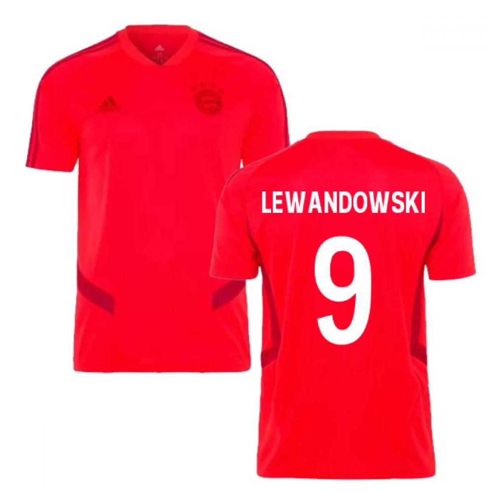 cheap for discount f2a80 2a09c 2019-2020 Bayern Munich Adidas Training Shirt (Red) (LEWANDOWSKI 9)