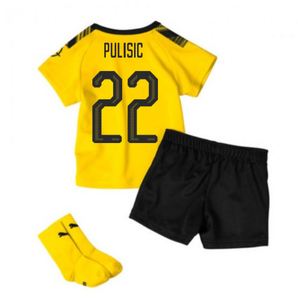 quality design 94c07 7ea26 2019-2020 Borussia Dortmund Home Little Boys Mini Kit (PULISIC 22)