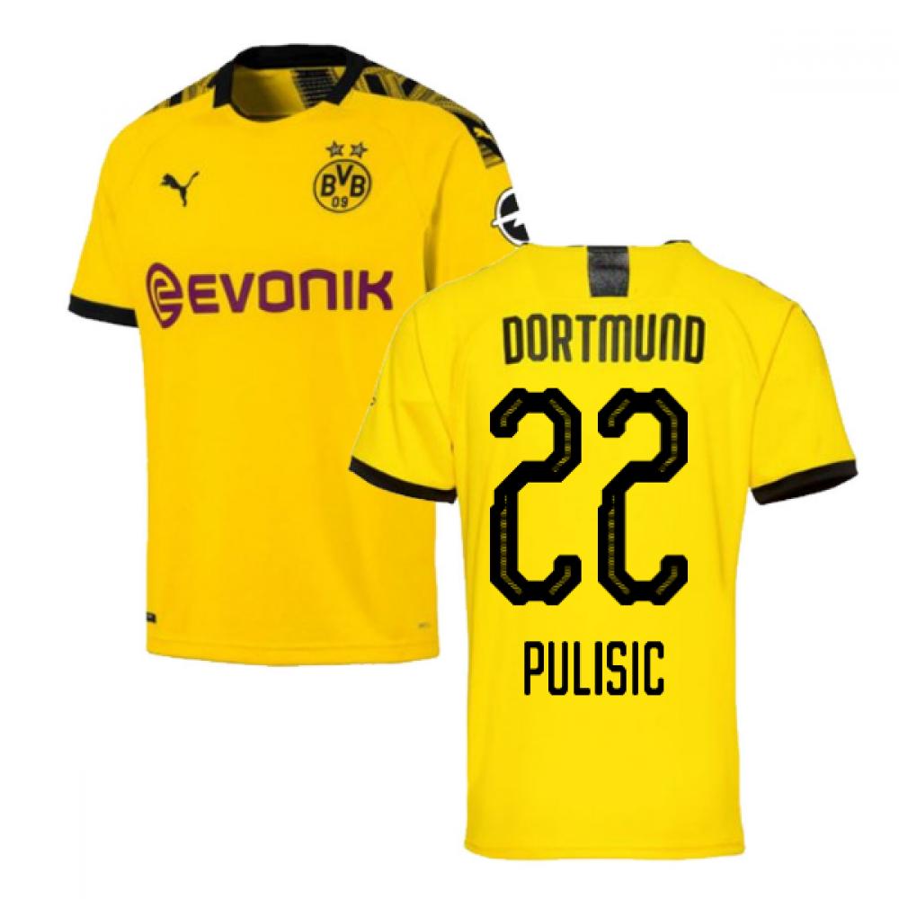 2019-2020 Borussia Dortmund Home Puma Shirt (Kids) (PULISIC 22)