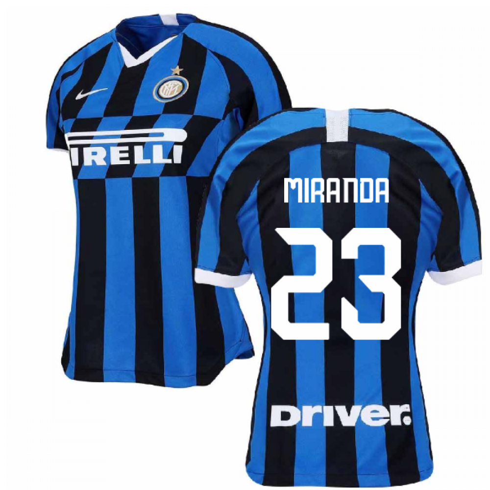 2019-2020 Inter Milan Home Nike Womens Football Shirt (MIRANDA 23)