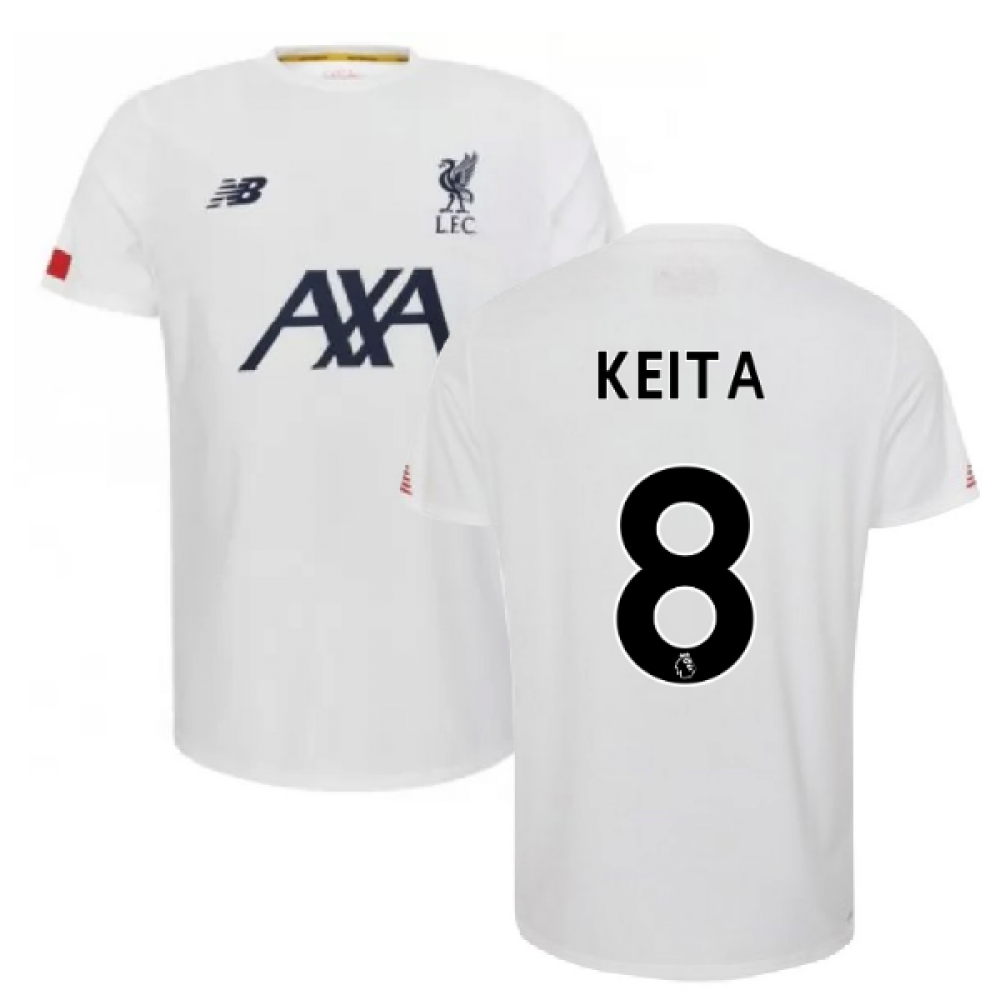 new style 99bb4 14eaf 2019-2020 Liverpool Pre Game Jersey (White) (Keita 8)