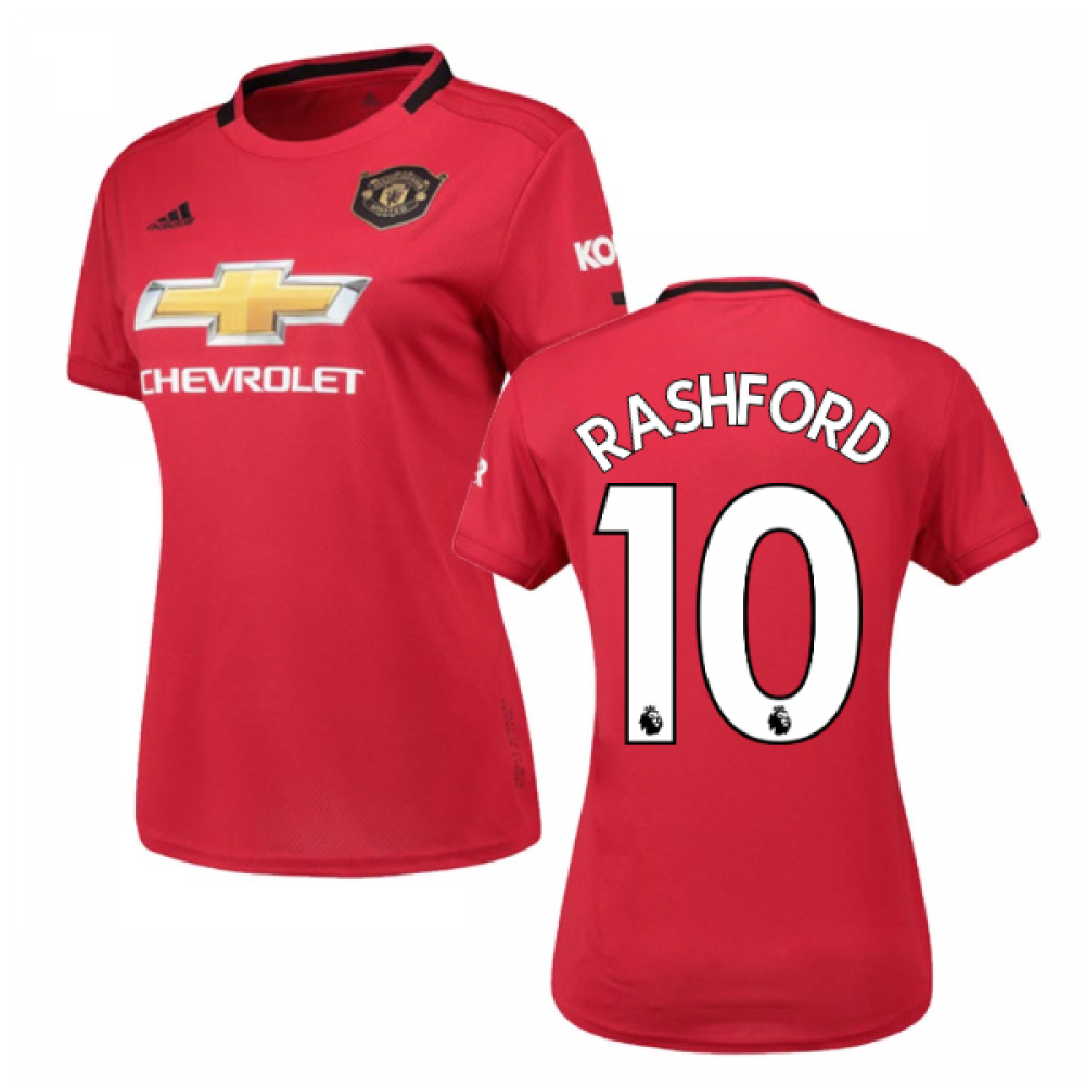 huge discount 87a1c 8d417 2019-2020 Man Utd Adidas Womens Home Shirt (RASHFORD 10)