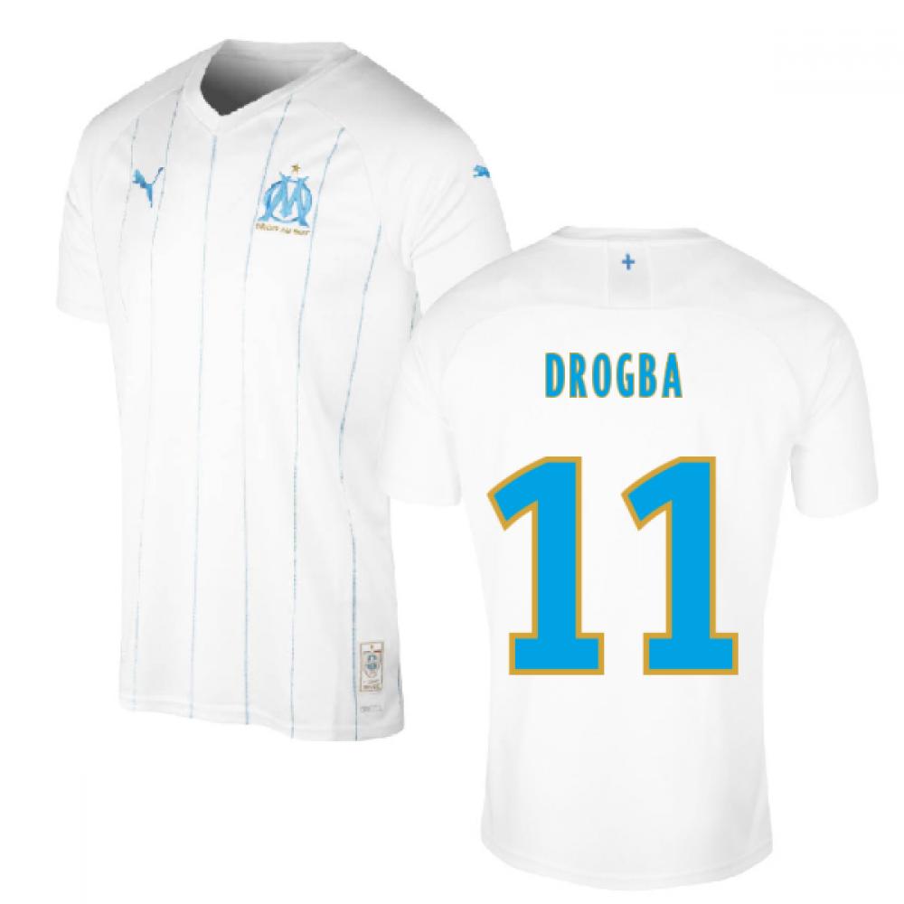 release date: a8d6b 0db1d 2019-2020 Olympique Marseille Puma Home Football Shirt (Kids) (DROGBA 11)