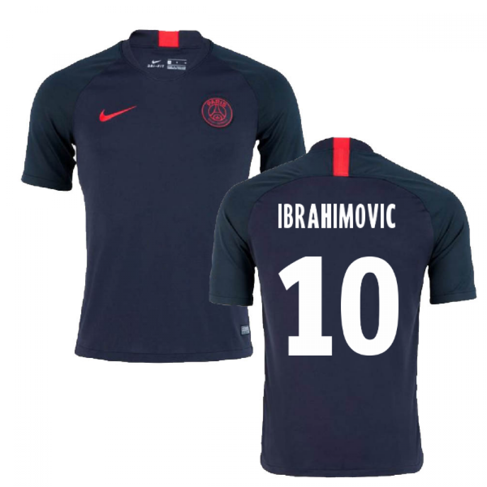 cheap for discount 9c4a4 70a61 2019-2020 PSG Nike Strike Training Shirt (Oil Grey) (IBRAHIMOVIC 10)