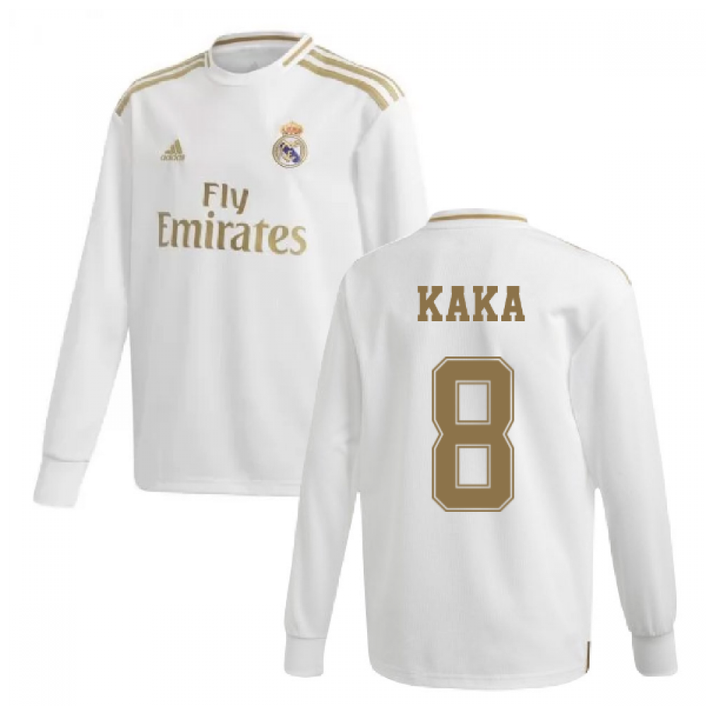 buy online 2dc33 54f35 2019-2020 Real Madrid Adidas Home Long Sleeve Shirt (Kids) (KAKA 8)